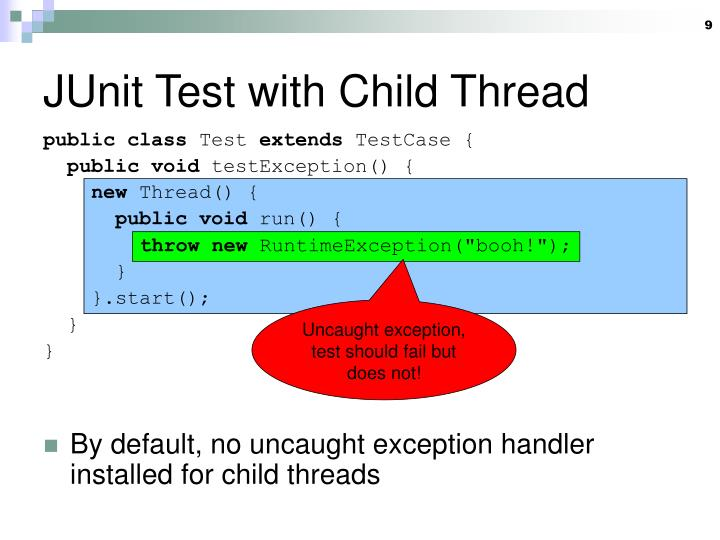 JUnit Test with Child Thread