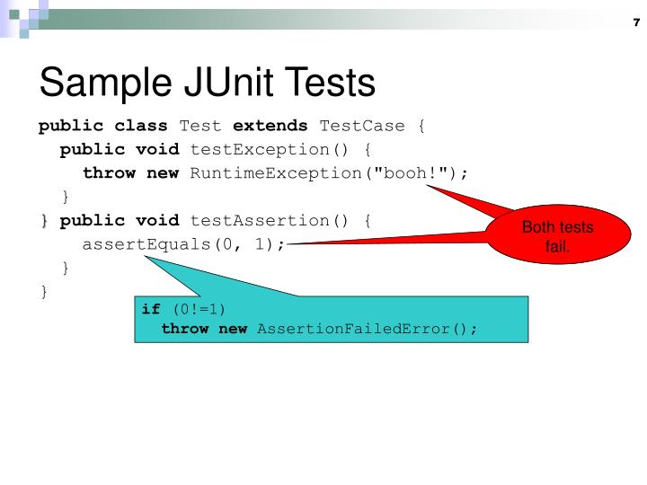 Sample JUnit Tests