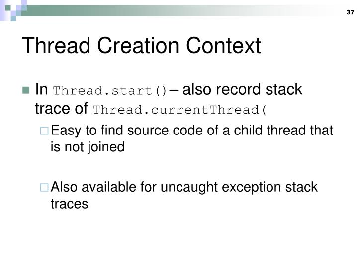 Thread Creation Context