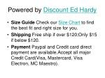 powered by discount ed hardy