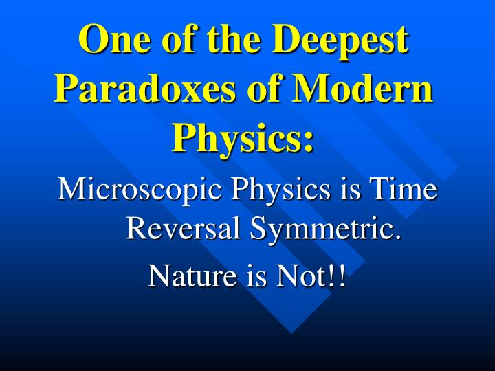 One of the Deepest Paradoxes of Modern Physics: