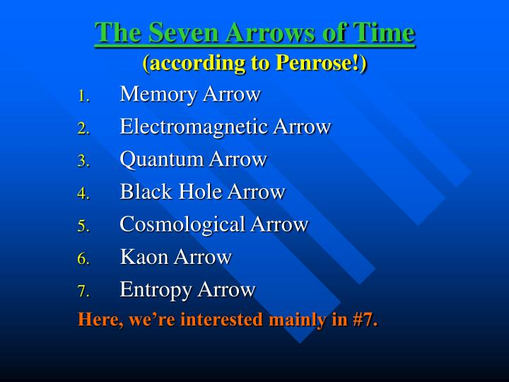 The Seven Arrows of Time