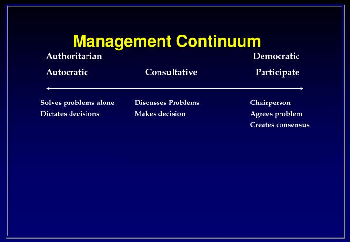 Management continuum