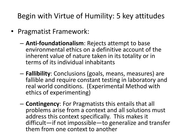 Begin with Virtue of Humility: 5 key attitudes