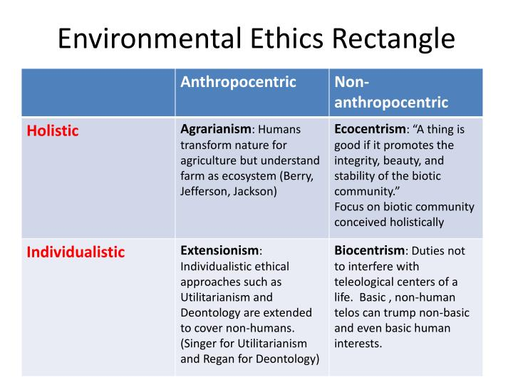 Environmental Ethics Rectangle