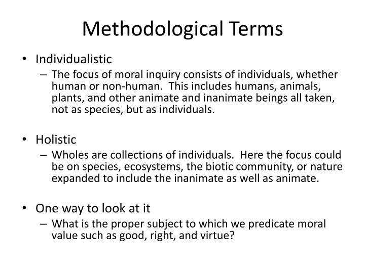 Methodological Terms