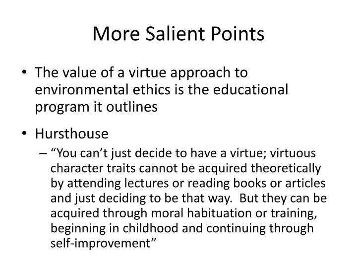 More Salient Points