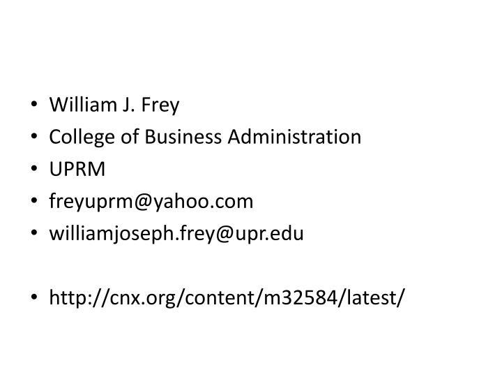 William J. Frey