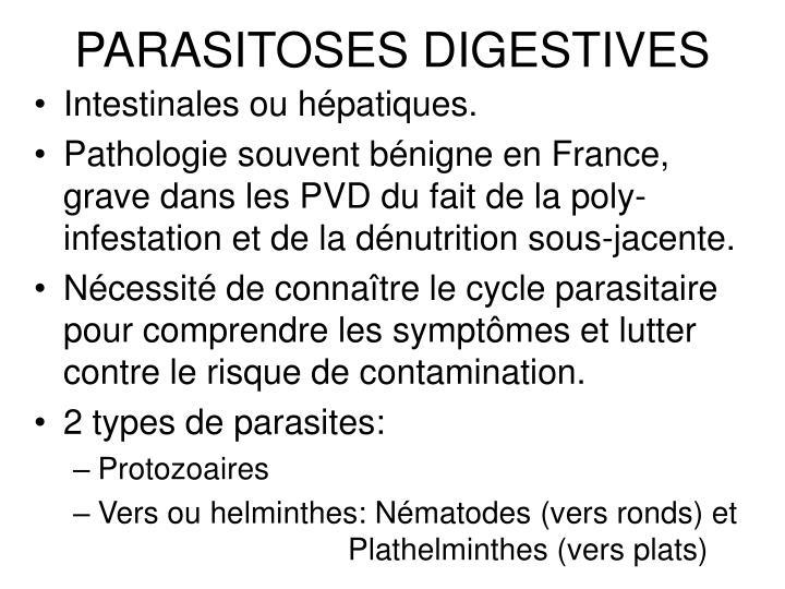 Les parasites vivant sous la peau et sur la peau