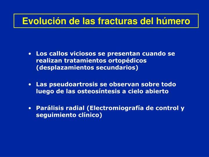 Evolución de las fracturas del húmero