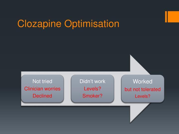 Clozapine Optimisation