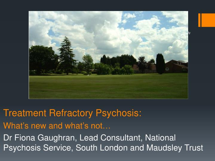 Treatment Refractory Psychosis: