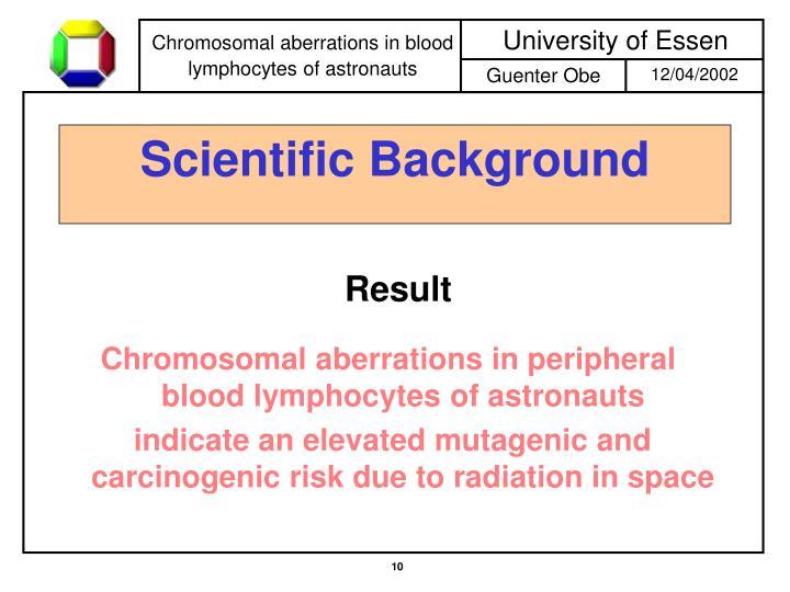 Chromosomal aberrations in peripheral blood lymphocytes of astronauts