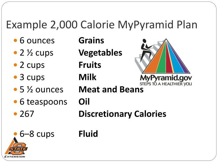 Example 2,000 Calorie MyPyramid Plan