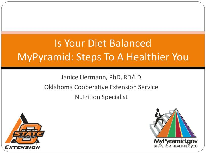 Is your diet balanced mypyramid steps to a healthier you