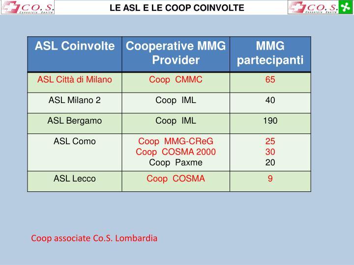 LE ASL E LE COOP COINVOLTE