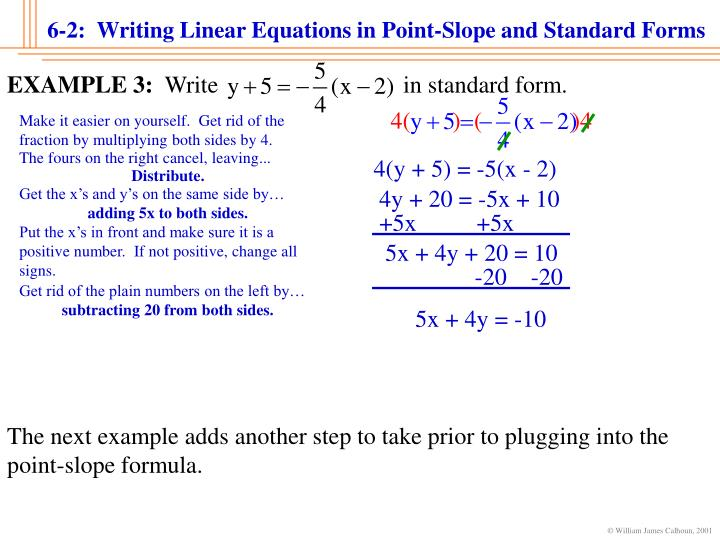 how to put an equation in turning point form fractions