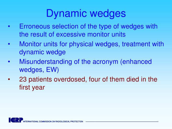 Dynamic wedges