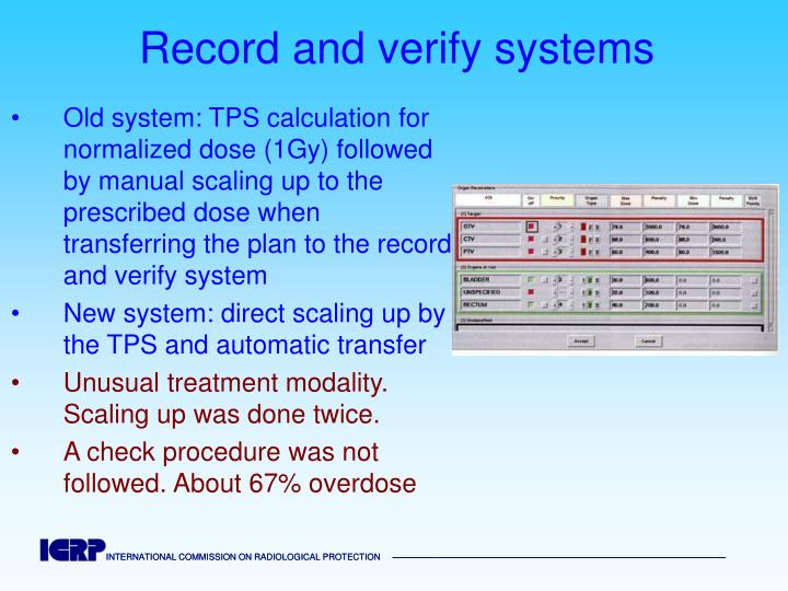 Record and verify systems