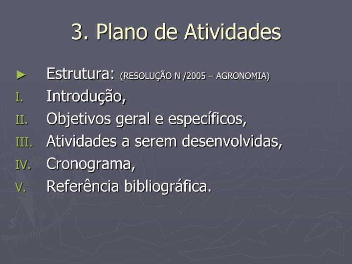 3. Plano de Atividades
