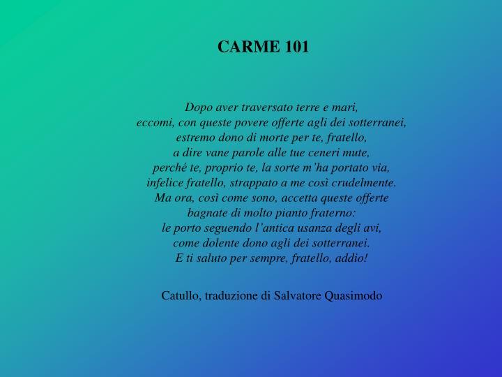CARME 101