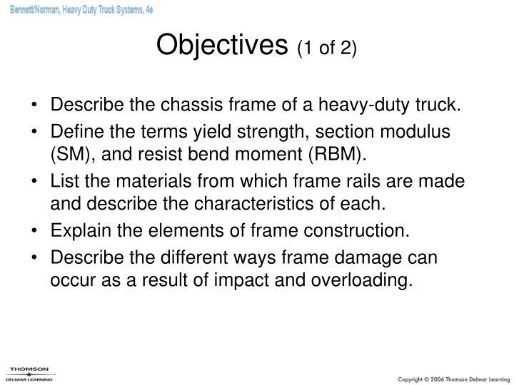 Objectives 1 of 2