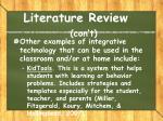 literature review con t2