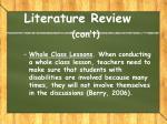 literature review con t6
