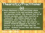 theorist s practitioner s