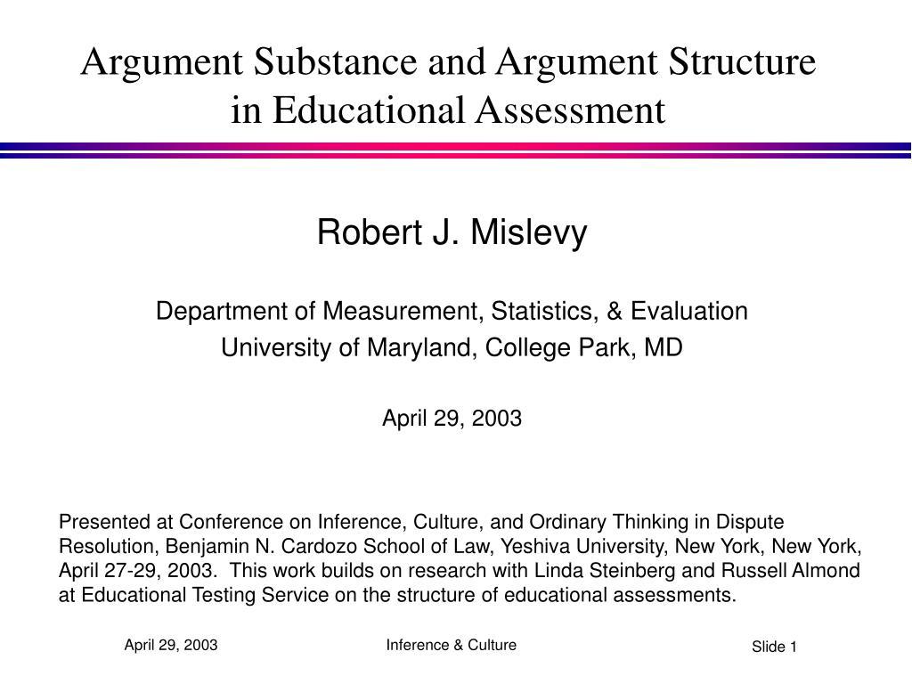 Argument Substance and Argument Structure