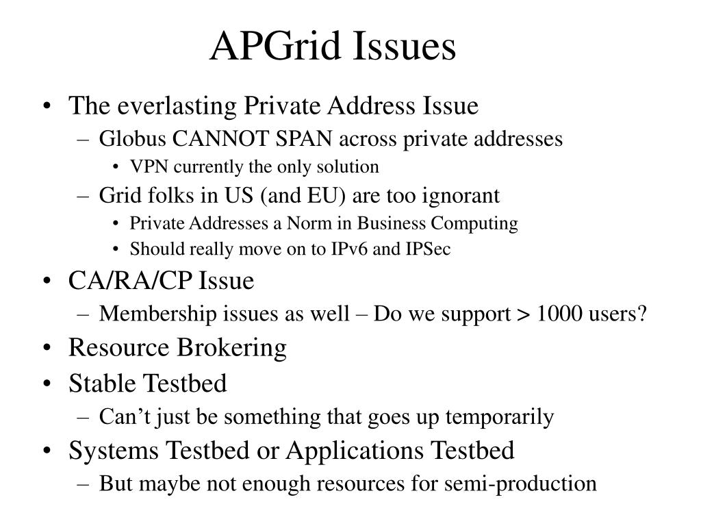 APGrid Issues