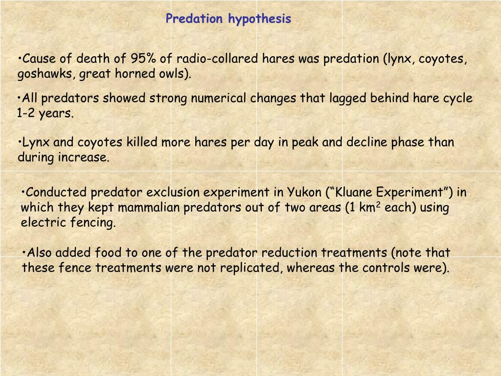 Predation hypothesis