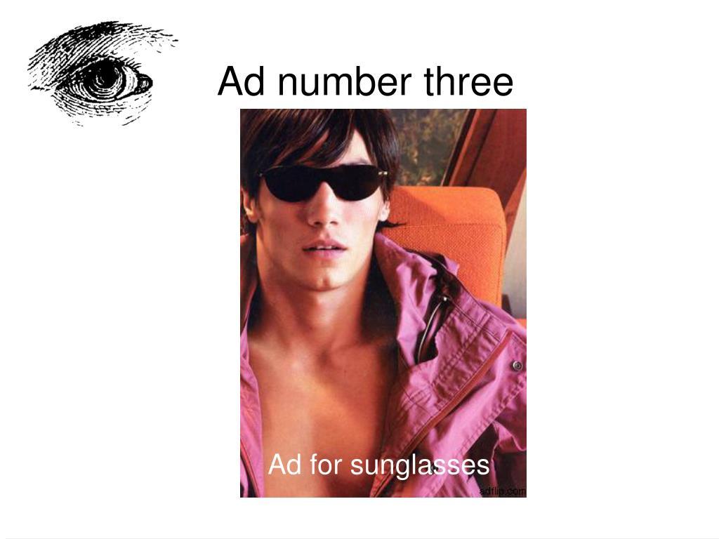 Ad number three