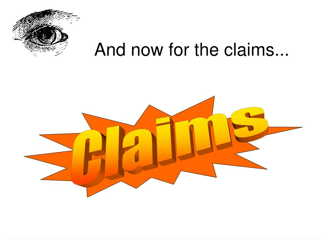 And now for the claims...