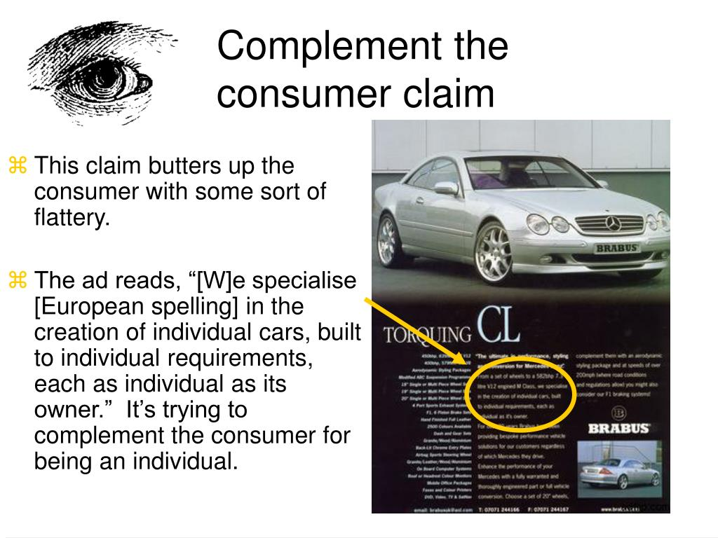 Complement the consumer claim