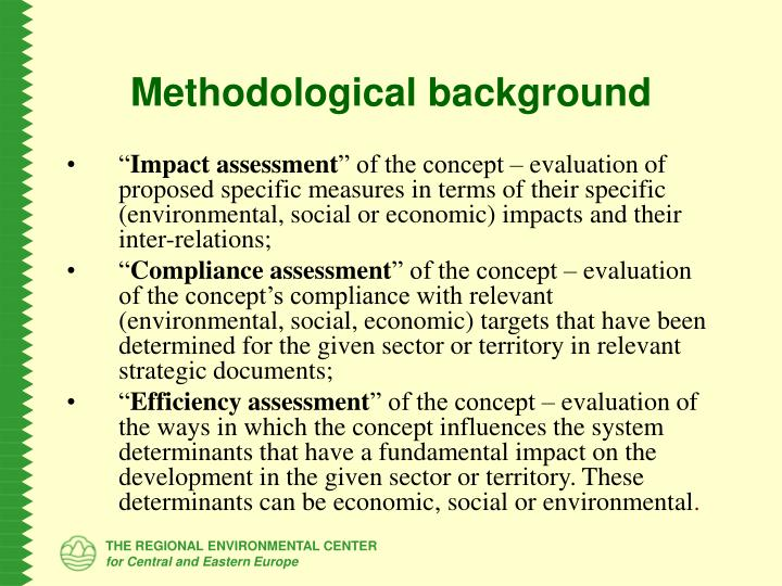 Methodological background