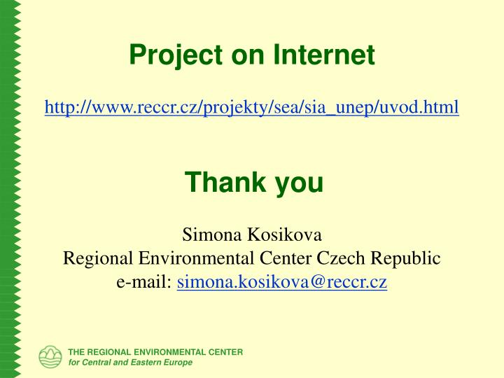 Project on Internet