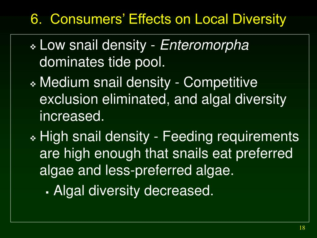 6.  Consumers' Effects on Local Diversity