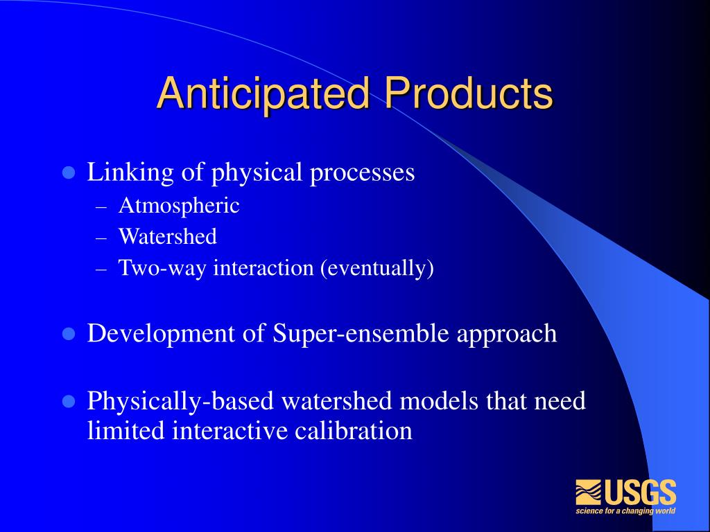 Anticipated Products