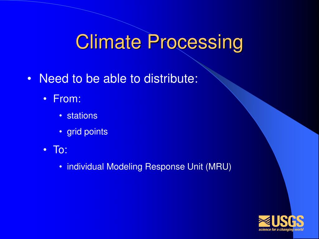 Climate Processing