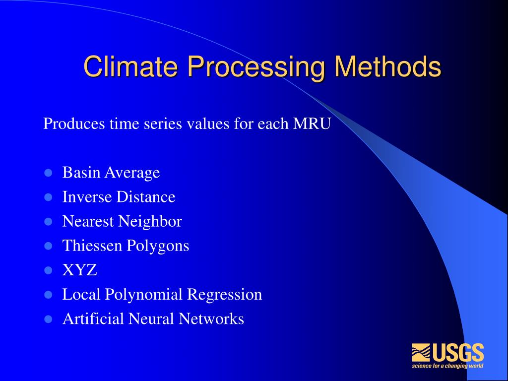 Climate Processing Methods