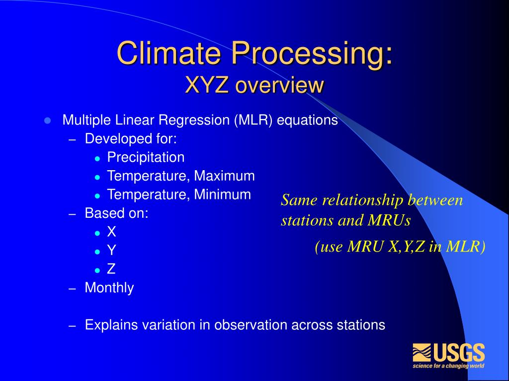 Climate Processing:
