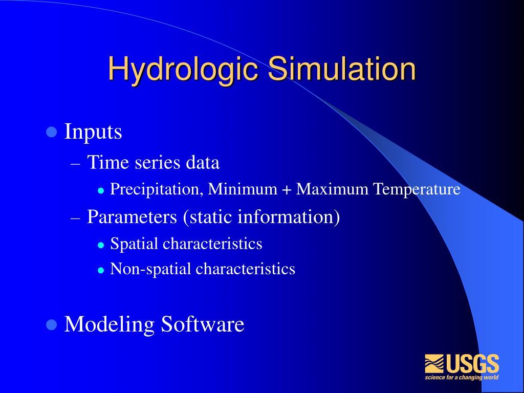 Hydrologic Simulation