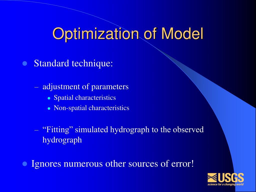 Optimization of Model
