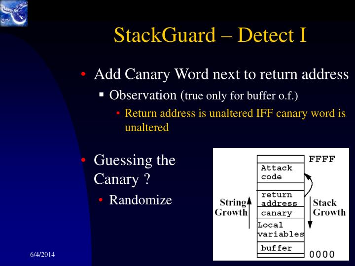 StackGuard – Detect I