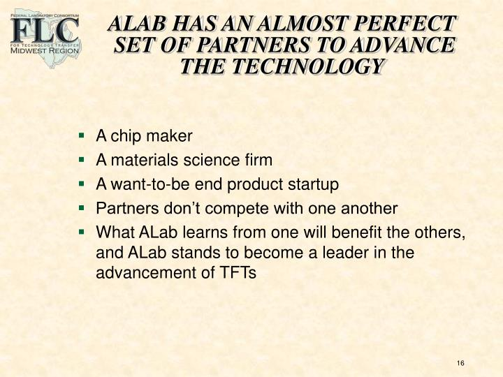 ALAB HAS AN ALMOST PERFECT