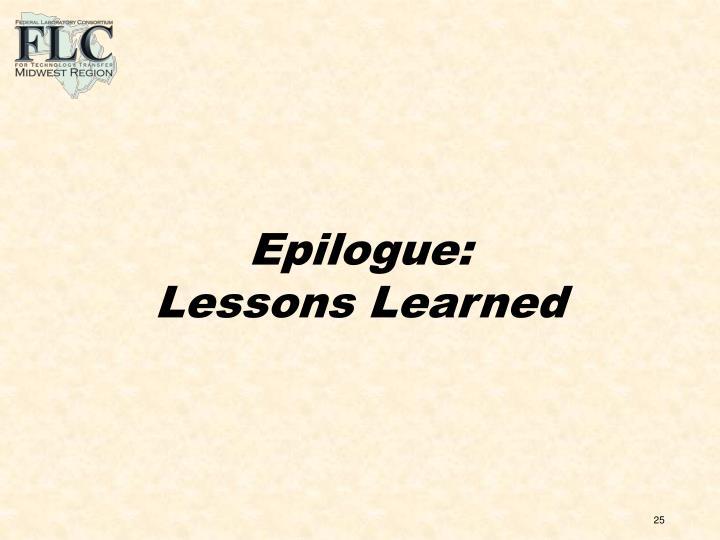 Epilogue: