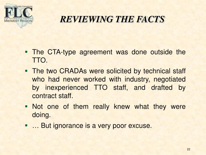 REVIEWING THE FACTS