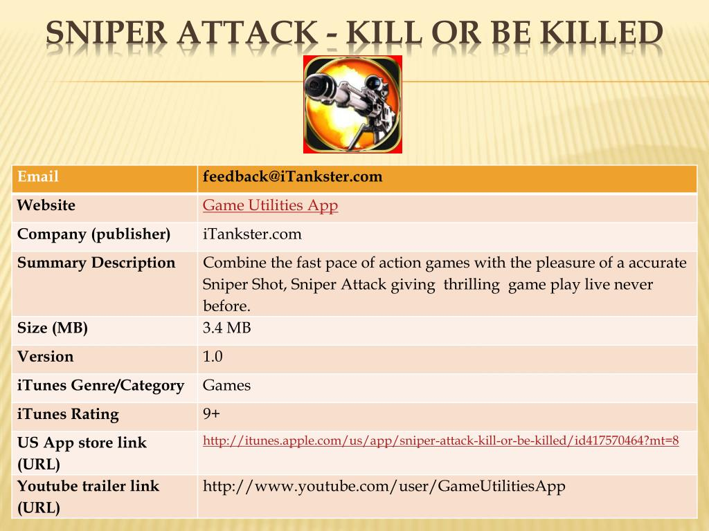 Sniper Attack - Kill Or Be Killed