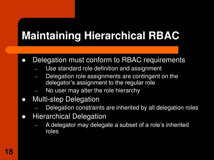 Maintaining Hierarchical RBAC